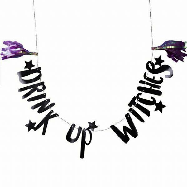 Halloween Drink up Witches Bunting 2m